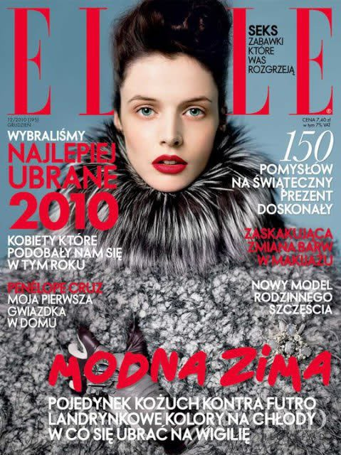 Charon Cooijmans featured on the Elle Poland cover from December 2010