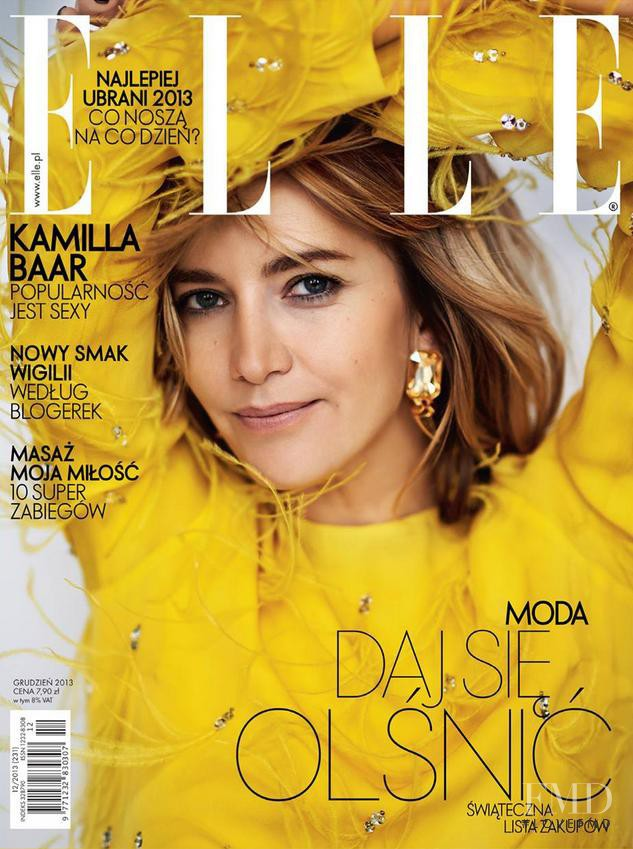 Kamilla Baar featured on the Elle Poland cover from December 2013