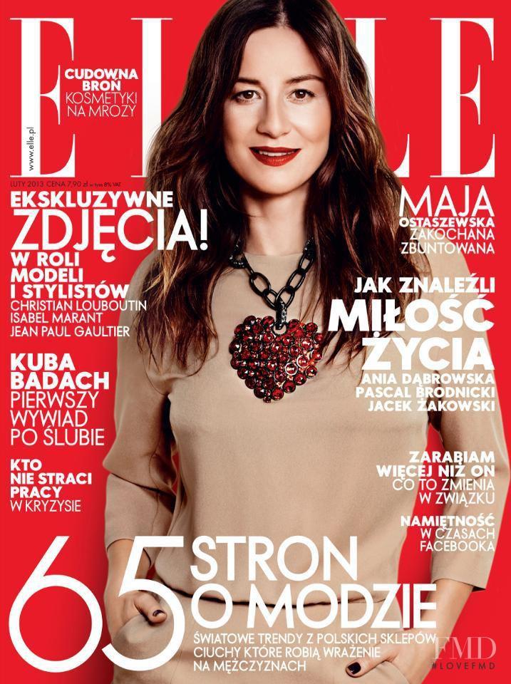 Maja Ostaszewska featured on the Elle Poland cover from February 2013