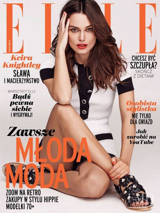 Keira Knightley featured on the Elle Poland cover from May 2015