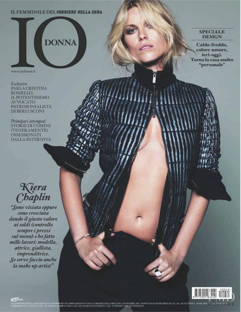 Kiera Chaplin featured on the Io Donna cover from November 2011