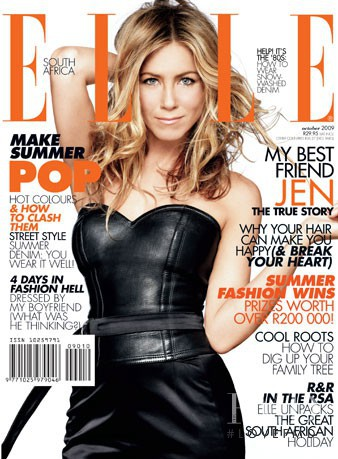Jennifer Aniston featured on the Elle South Africa cover from November 2009