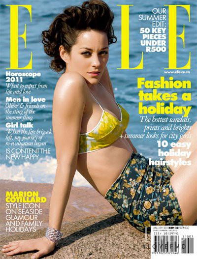 Marion Cotillard featured on the Elle South Africa cover from January 2011