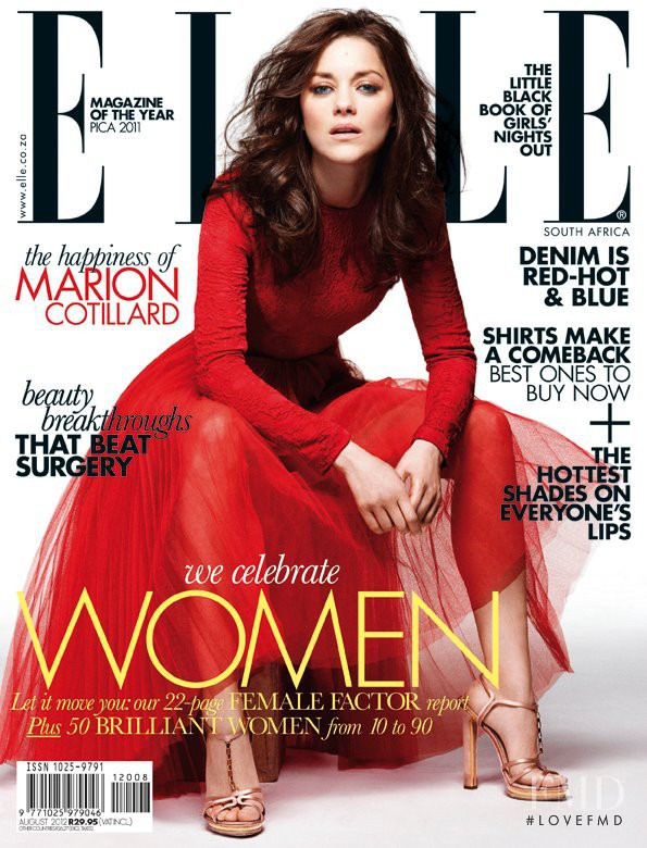 Marion Cotillard featured on the Elle South Africa cover from August 2012