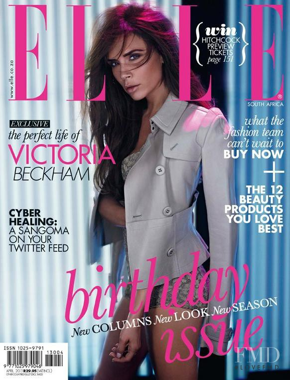 Victoria Beckham featured on the Elle South Africa cover from April 2013