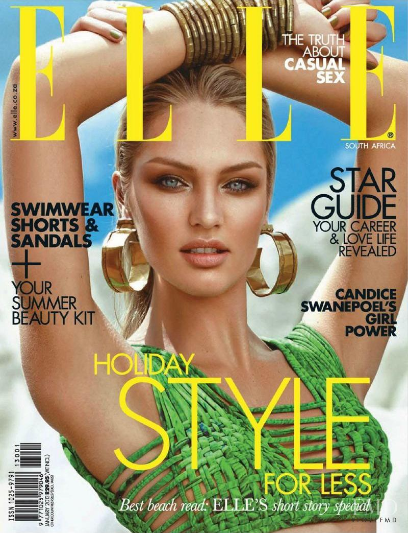 Candice Swanepoel featured on the Elle South Africa cover from January 2013