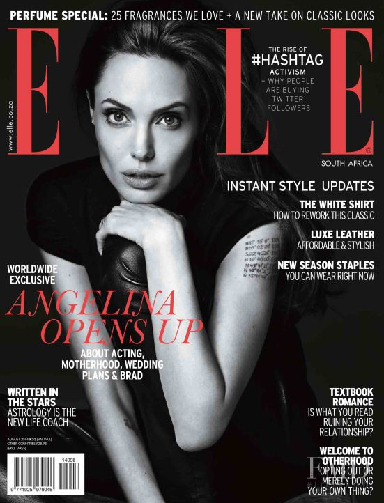featured on the Elle South Africa cover from August 2014