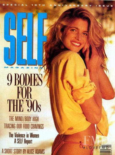 Stephanie Seymour featured on the SELF cover from March 1989