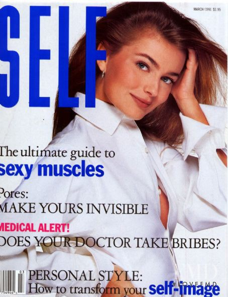 Paulina Porizkova featured on the SELF cover from March 1991