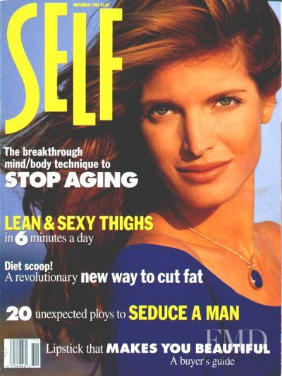 Stephanie Seymour featured on the SELF cover from November 1993