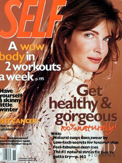 Stephanie Seymour featured on the SELF cover from November 2000