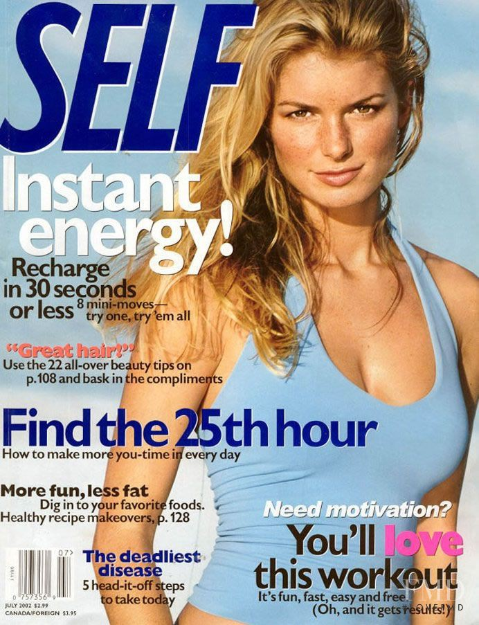 Marisa Miller featured on the SELF cover from July 2002