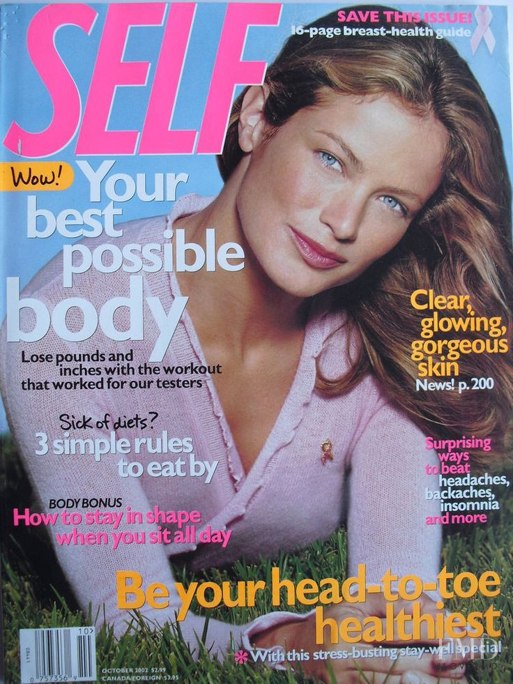 Carolyn Murphy featured on the SELF cover from October 2002