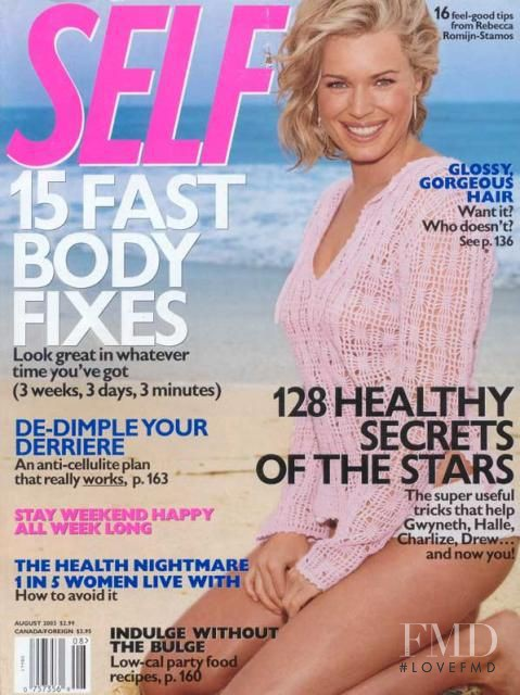 Rebecca Romijn featured on the SELF cover from August 2003