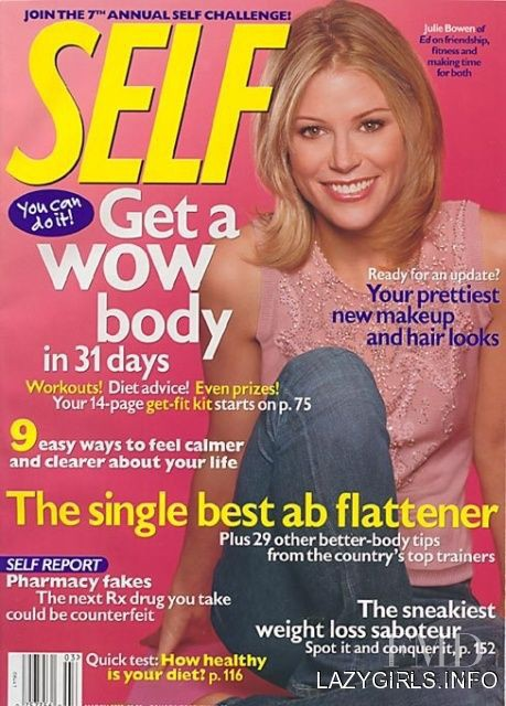 Julie Bowen featured on the SELF cover from March 2003