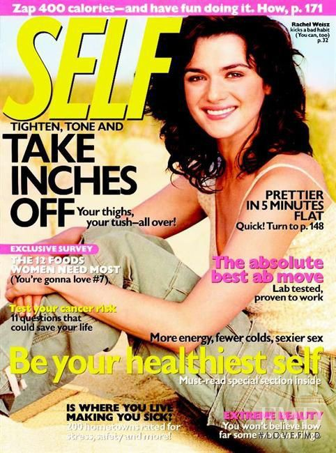 Rachel Weisz featured on the SELF cover from November 2003