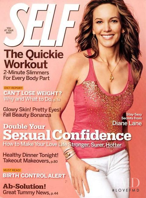 Diane Lane featured on the SELF cover from August 2005