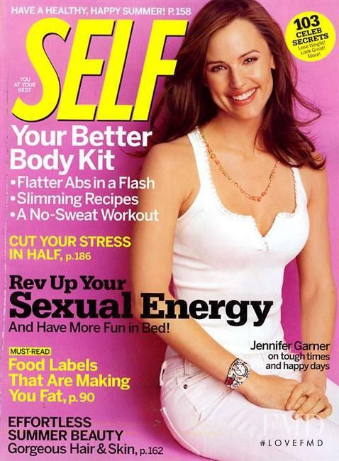 Jennifer Garner featured on the SELF cover from June 2005