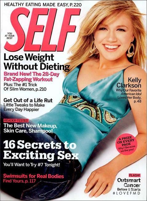Kelly Clarkson featured on the SELF cover from May 2005