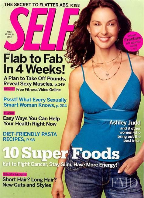 Ashley Judd featured on the SELF cover from September 2005