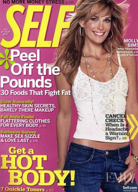 Molly Sims featured on the SELF cover from August 2006