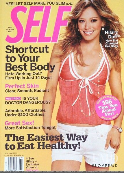 Hilary Duff featured on the SELF cover from July 2006