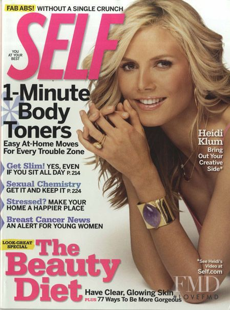 Heidi Klum featured on the SELF cover from October 2006