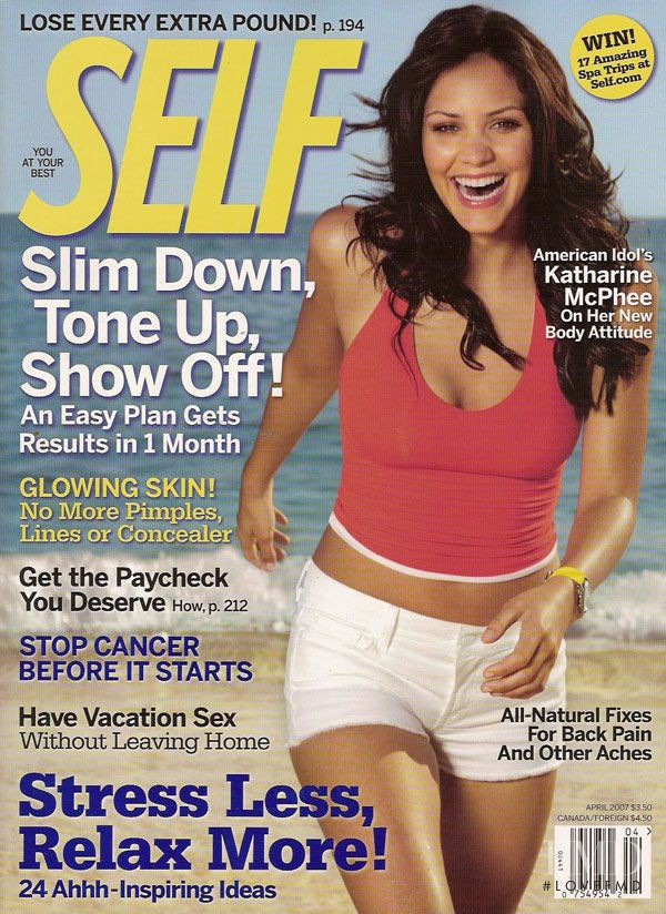 Katharine McPhee featured on the SELF cover from April 2007