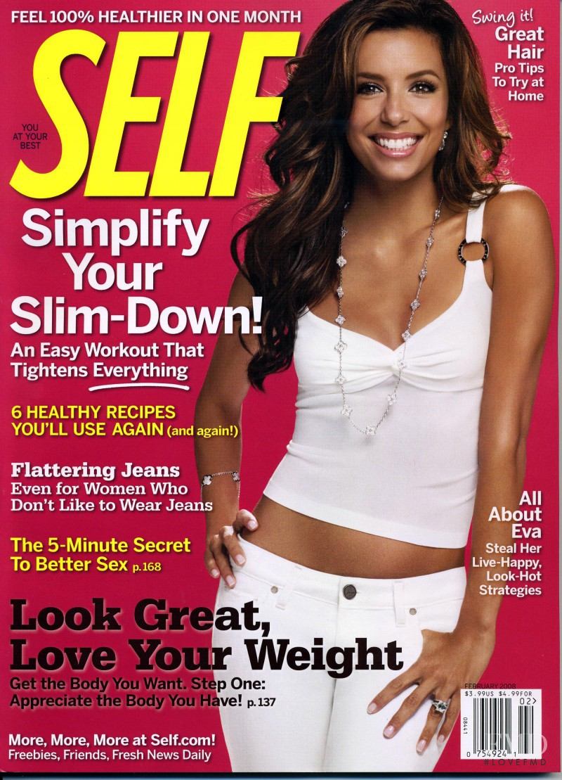 Eva Longoria featured on the SELF cover from February 2008