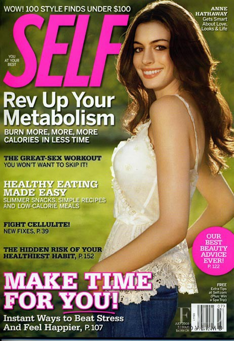Anne Hathaway featured on the SELF cover from July 2008