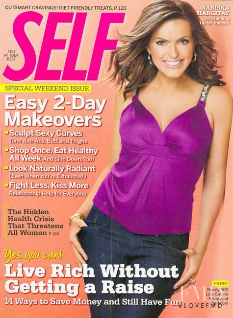 Marisak Hargitay featured on the SELF cover from November 2008