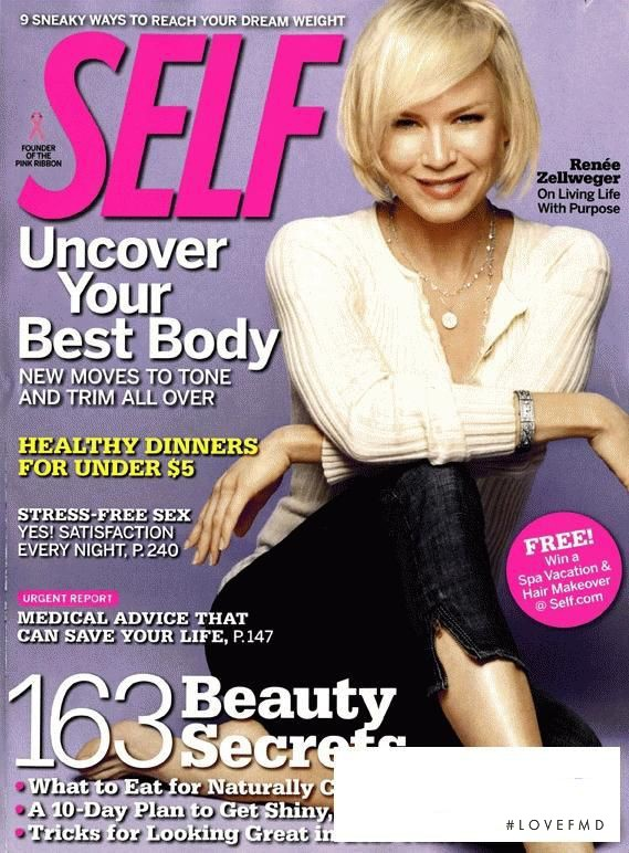 Ren�e Zellweger featured on the SELF cover from October 2008