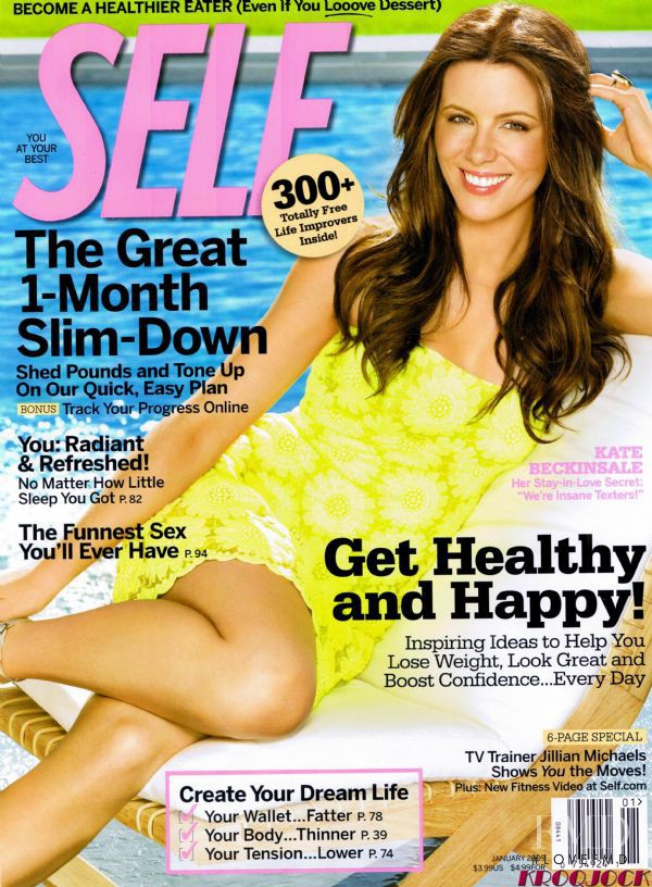 Kate Beckinsale featured on the SELF cover from January 2009