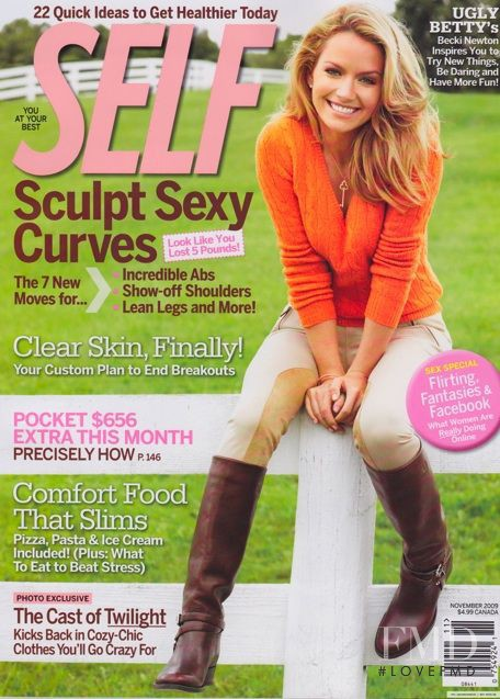 Becki Newton featured on the SELF cover from November 2009