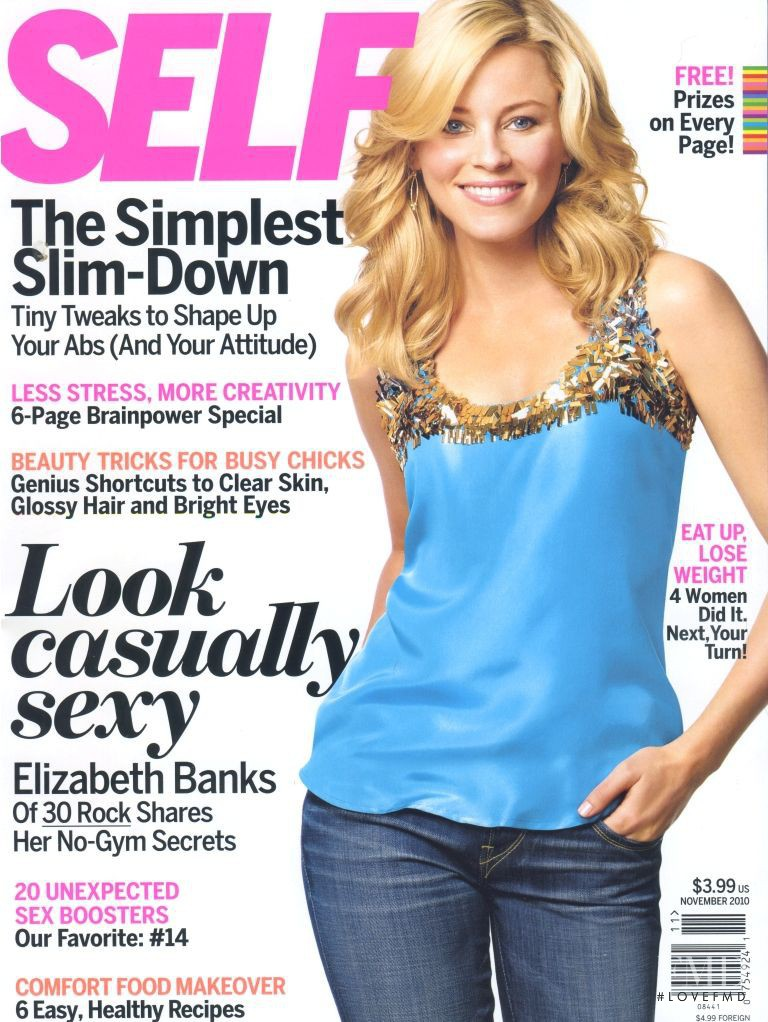 Elizabeth Banks featured on the SELF cover from November 2010