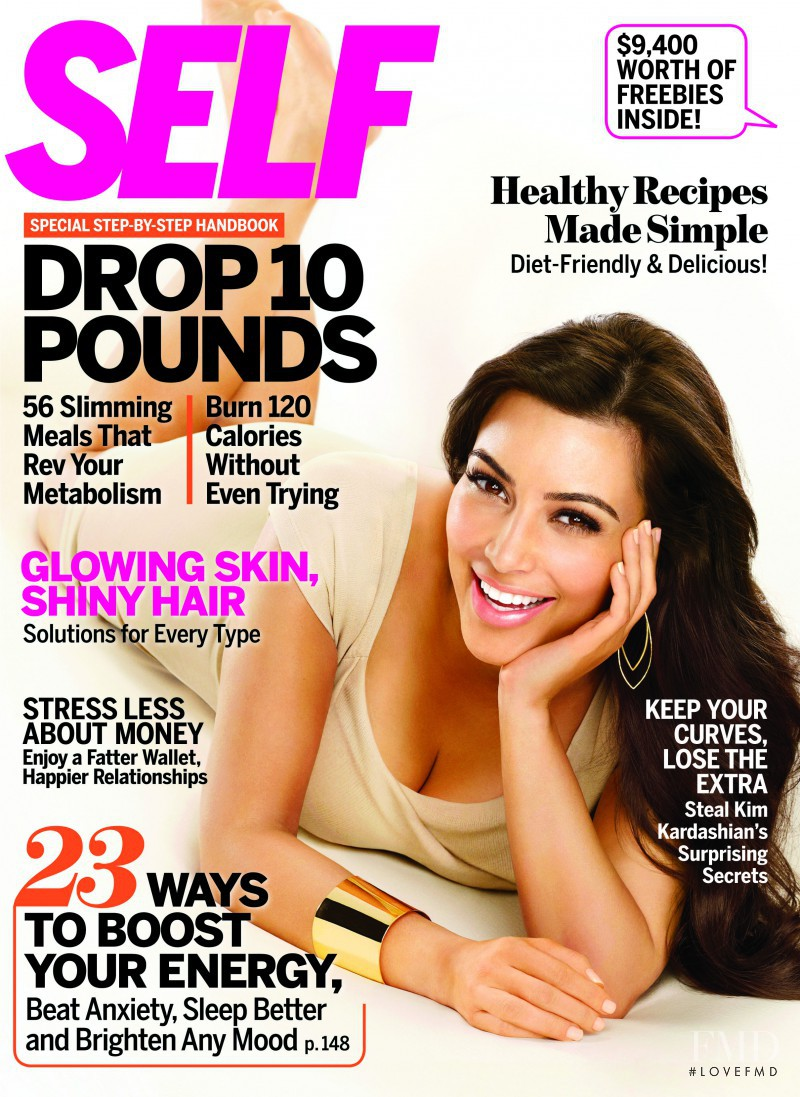 Kim Kardashian featured on the SELF cover from April 2011