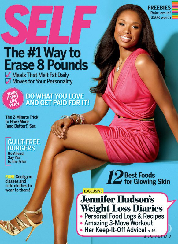 Jennifer Hudson featured on the SELF cover from September 2011
