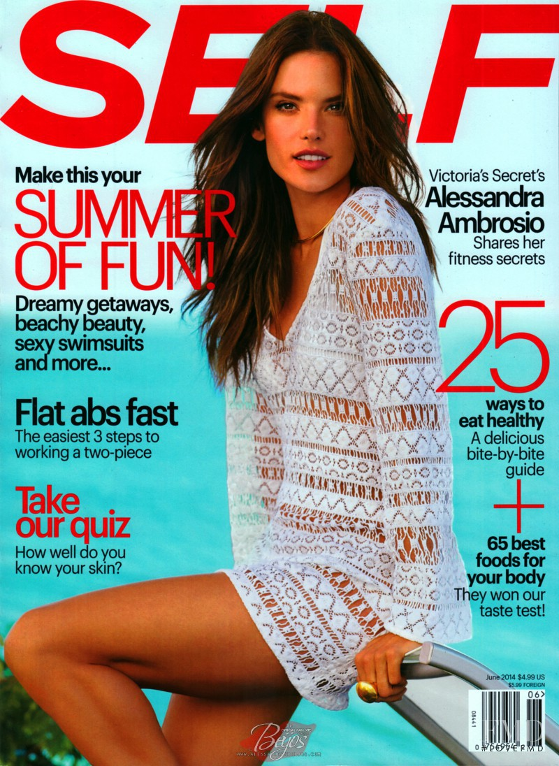 Alessandra Ambrosio featured on the SELF cover from June 2014