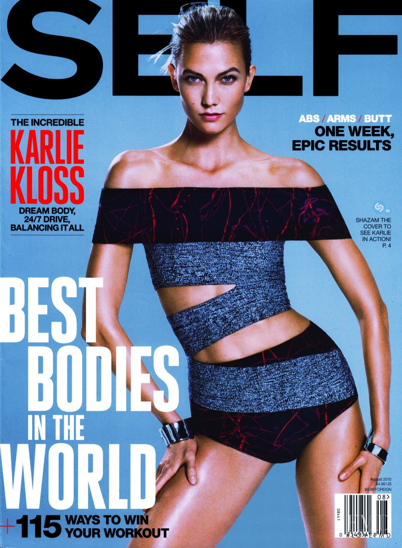 Karlie Kloss featured on the SELF cover from August 2015