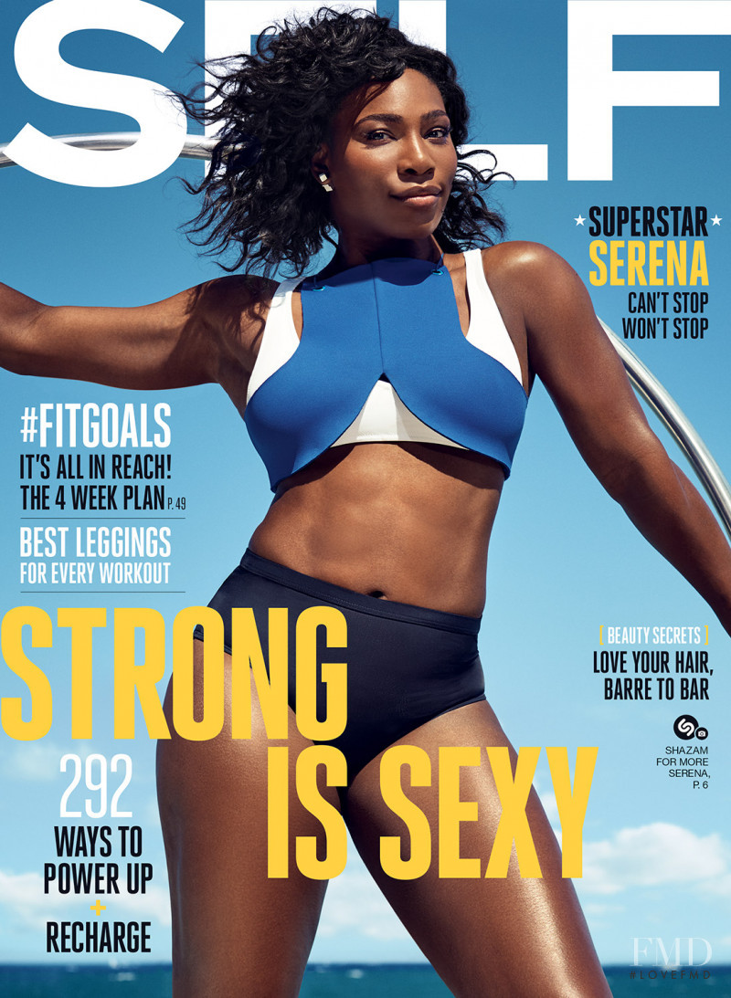 Serena Williams featured on the SELF cover from September 2016