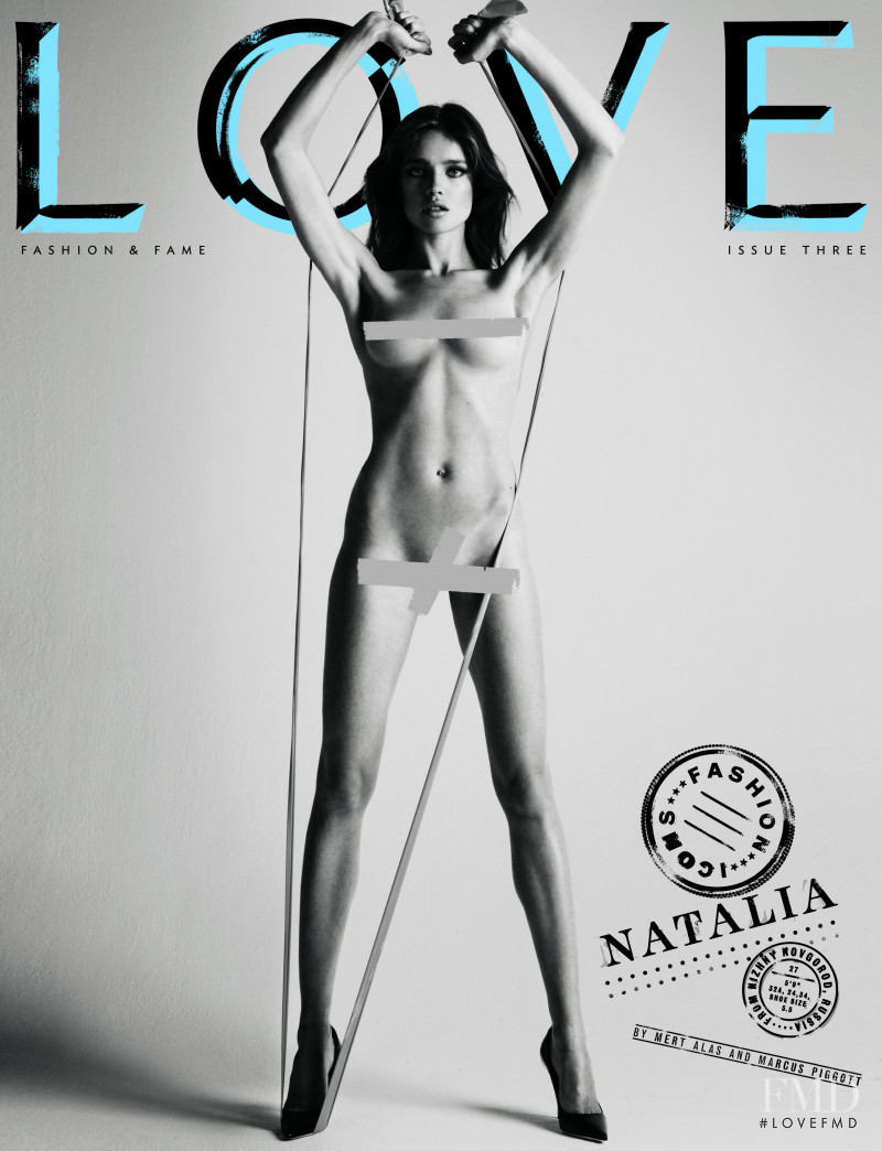 Natalia Vodianova featured on the LOVE cover from February 2010