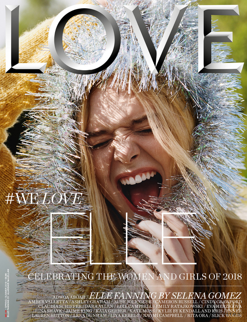 Elle Fanning featured on the LOVE cover from February 2018