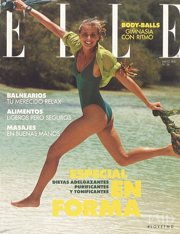 Cathy Fedoruk featured on the Elle Spain cover from May 1991