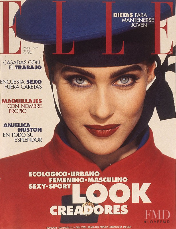 Mitzi Martin featured on the Elle Spain cover from March 1992