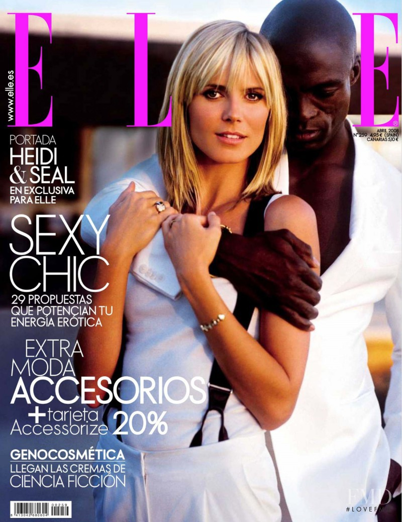 Heidi Klum featured on the Elle Spain cover from April 2008