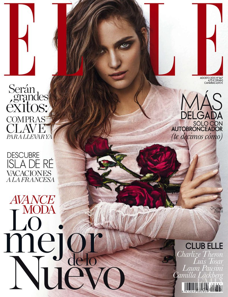 Zuzanna Bijoch featured on the Elle Spain cover from August 2015