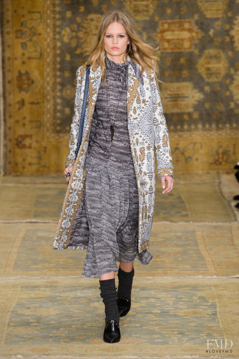 Anna Ewers featured in  the Tory Burch fashion show for Autumn/Winter 2015