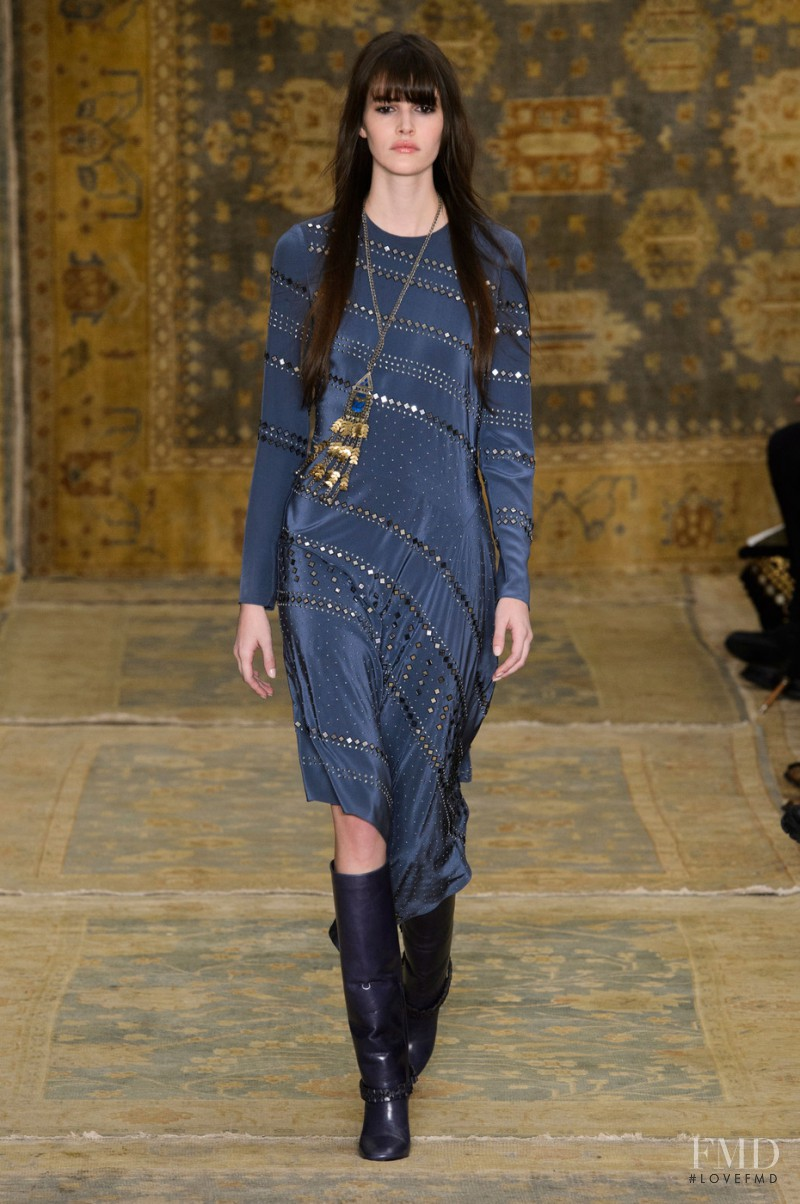Vanessa Moody featured in  the Tory Burch fashion show for Autumn/Winter 2015