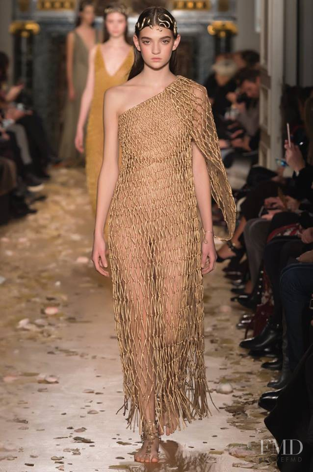 Yuliia Ratner featured in  the Valentino Couture fashion show for Spring/Summer 2016