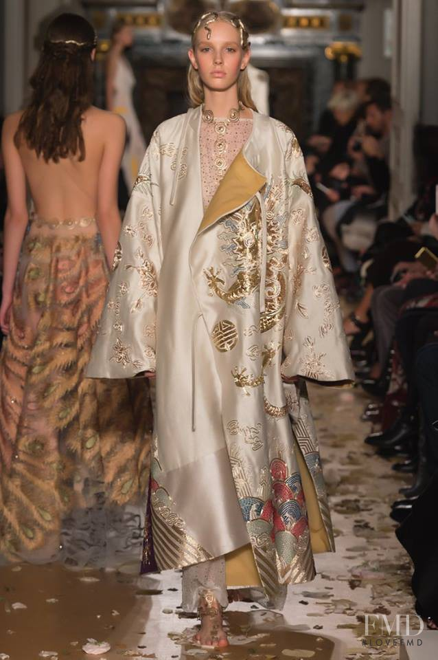 Jessie Bloemendaal featured in  the Valentino Couture fashion show for Spring/Summer 2016